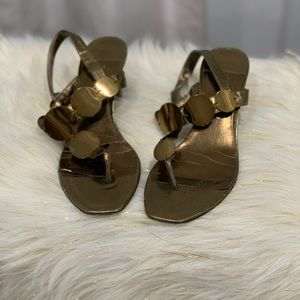 Enzo Angiolini the Gailynn gold sandal size 6M